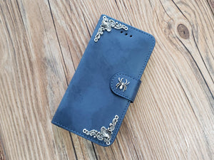 Spider phone leather wallet stand removable case cover for Apple / Samsung MN0777-icasecollections