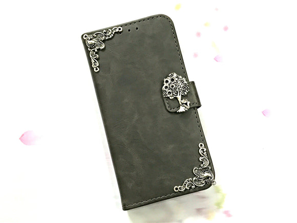 Squirrel leather wallet handmade phone case cover for Apple / Samsung MN0607-icasecollections