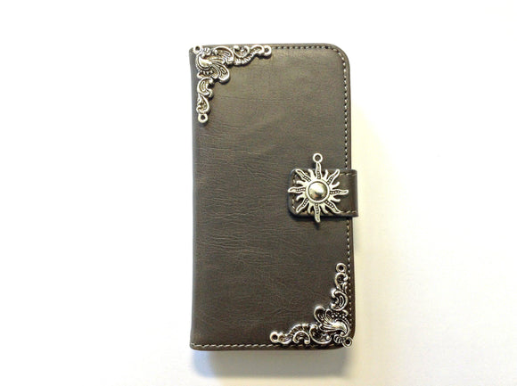 Sun handmade phone leather wallet case for Apple / Samsung MN0128-icasecollections