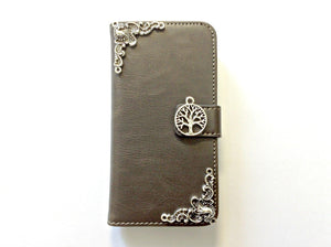 Tree handmade phone leather wallet case for Apple / Samsung MN0125-icasecollections