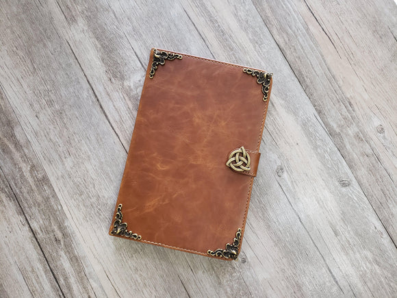 Trinity Celtic Knot ipad leather case, handmade ipad cover for Apple MN1019-icasecollections