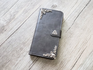 Trinity Celtic Knot leather wallet handmade phone case cover for Apple / Samsung MN0956-icasecollections