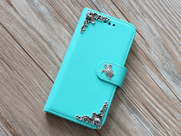 Turtle phone leather wallet removable case cover for Apple / Samsung MN0818-icasecollections