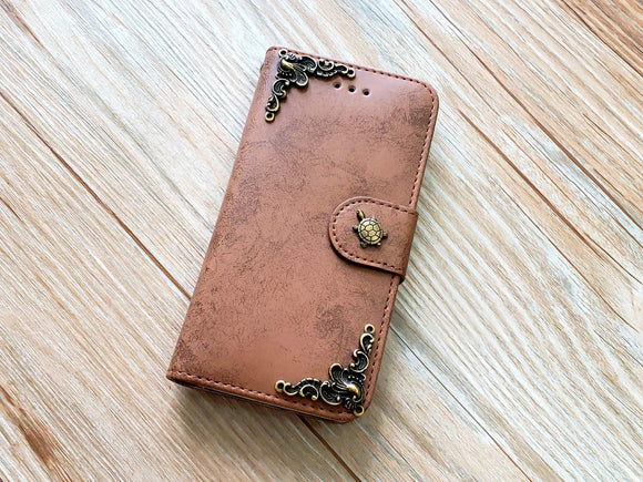 Turtle phone leather wallet removable case cover for Apple / Samsung MN0839-icasecollections