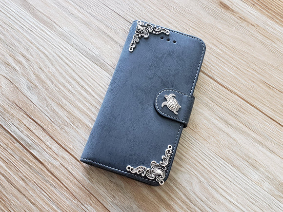 Turtle phone leather wallet removable case cover for Apple / Samsung MN0903-icasecollections