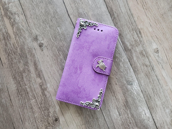 Turtle phone leather wallet stand removable case cover for Apple / Samsung MN1014-icasecollections