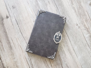 Twin skull ipad leather case, handmade ipad cover for Apple MN1151-icasecollections