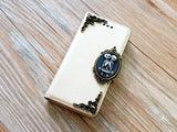 Twin skull phone leather wallet removable case cover for Apple / Samsung MN0854-icasecollections