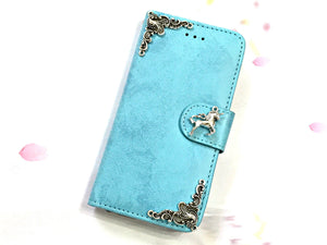 Unicorn phone leather wallet stand removable case cover for Apple / Samsung MN0627-icasecollections