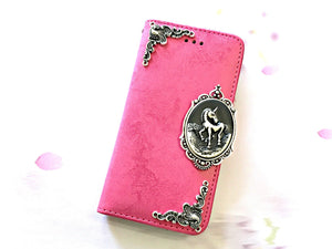 Unicorn phone leather wallet stand removable case cover for Apple / Samsung MN0640-icasecollections