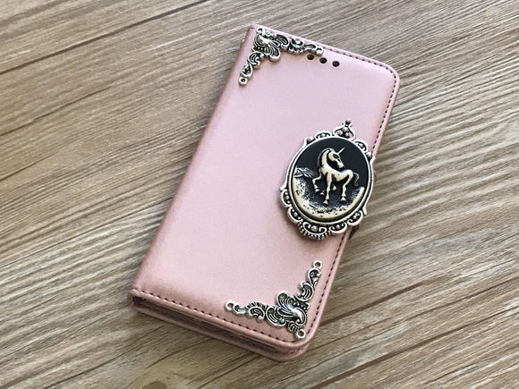 Unicorn removable phone leather wallet case for Apple / Samsung MN0045-icasecollections