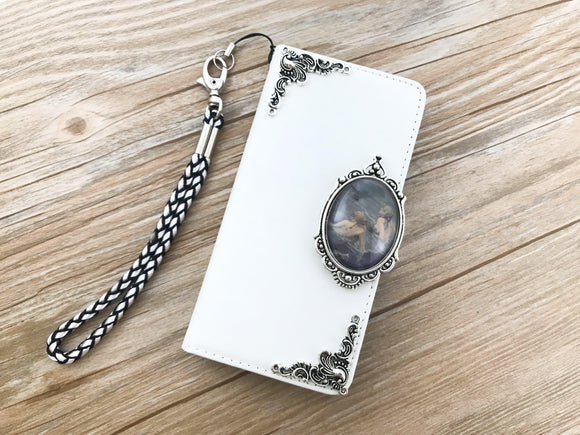 Vintage victorian mermaid leather wallet handmade phone case cover for Apple / Samsung DC038-icasecollections
