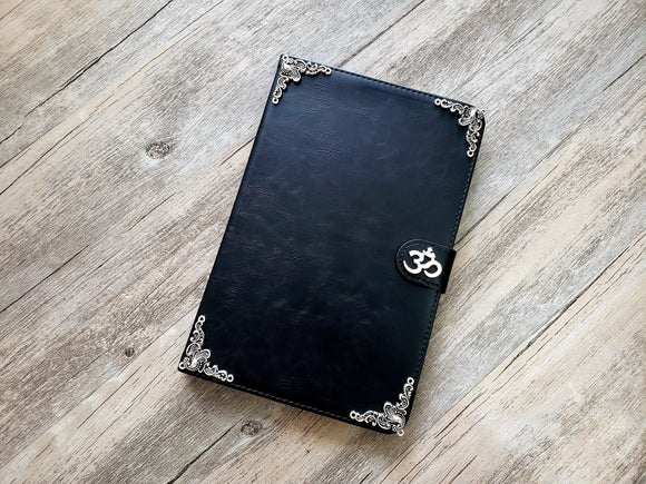 Yoga Om Aum Symbol ipad leather case, handmade ipad cover for Apple MN0978-icasecollections