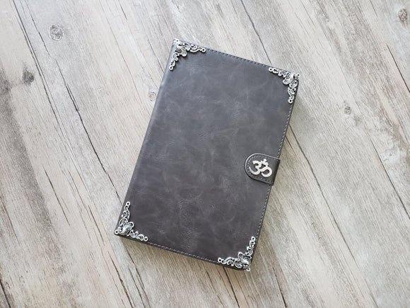 Yoga Om Aum Symbol ipad leather case, handmade ipad cover for Apple MN1115-icasecollections