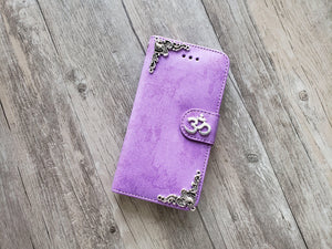 Yoga Om Aum Symbol phone leather wallet stand removable case cover for Apple / Samsung MN1024-icasecollections