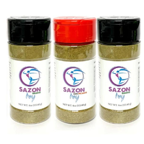 Sazon Ivy Combo Basico/Picante 3-PACK
