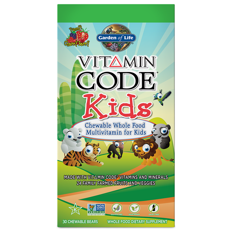 Vitamin Code Kids 30 osos masticables Garden of Life