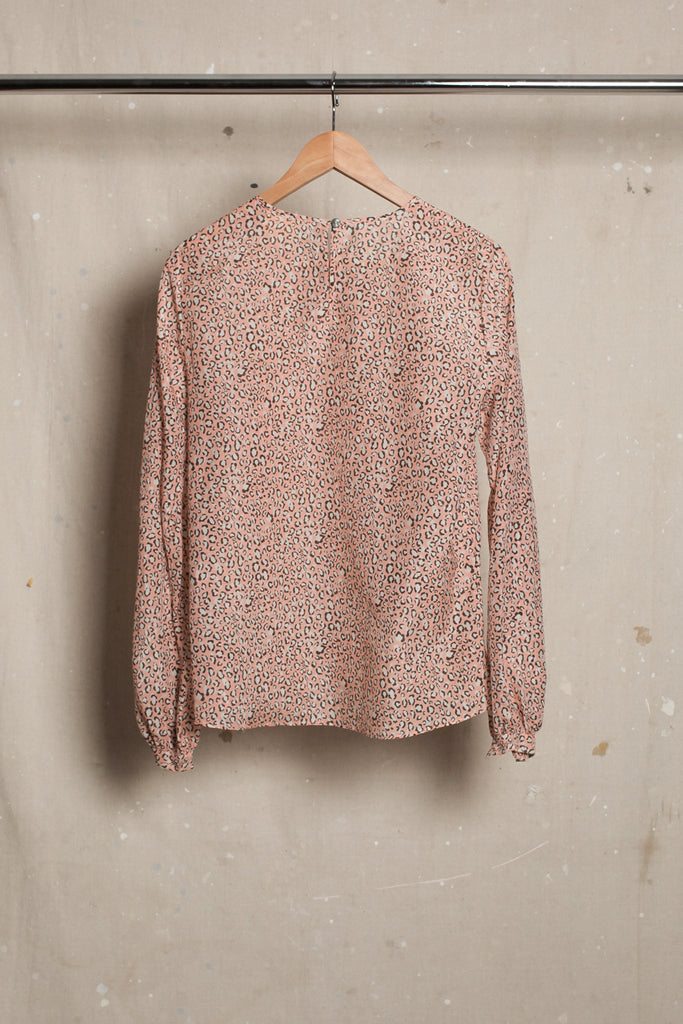 Cavalier Bell Sleeve Blouse - Animal Print