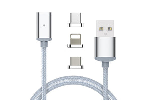 MagCable - 3 in 1 Magnetic Charging Cable with LED Light