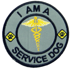 I Am a Service Dog - Reflective Patch