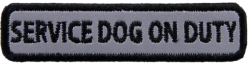 Rectangle Service Dog on Duty - Reflective Patch