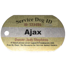 Load image into Gallery viewer, Customized Aluminum Dog Collar Tag