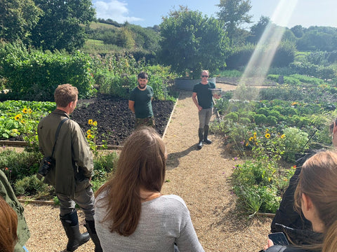 River Cottage garden food with muck boot crew for 20 years