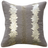 Basalt Crystalize Grey/Gold Feather Cushion