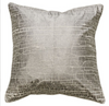 Basalt Fissure Pewter Foil/Natural Feather Cushion