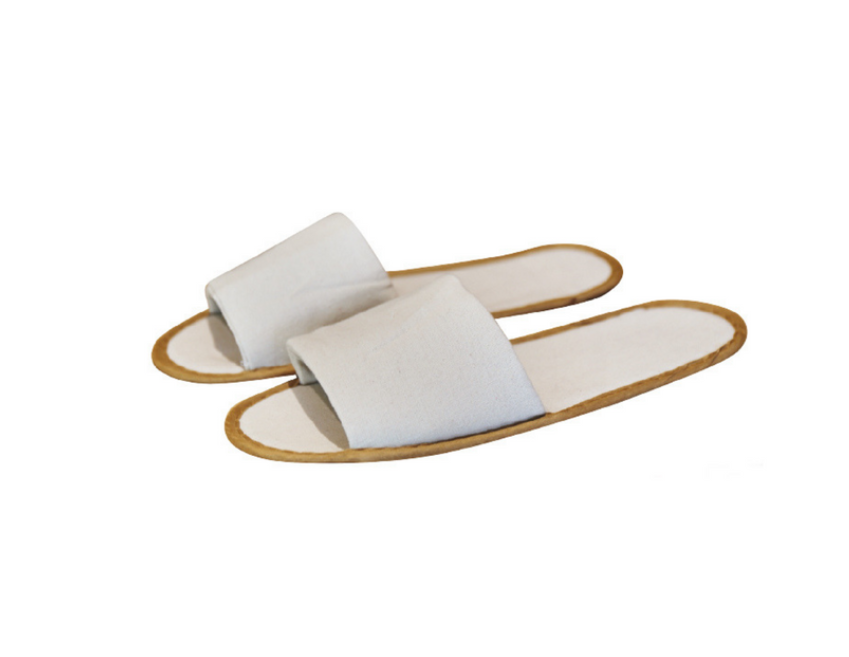 Slippers Eco Linen Open Toe - Natural