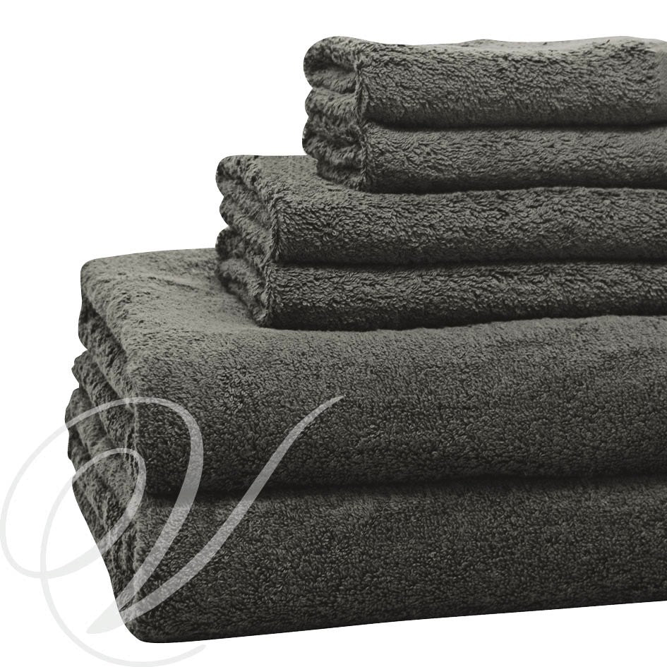 Weavers Cardiff Towel - Charcoal