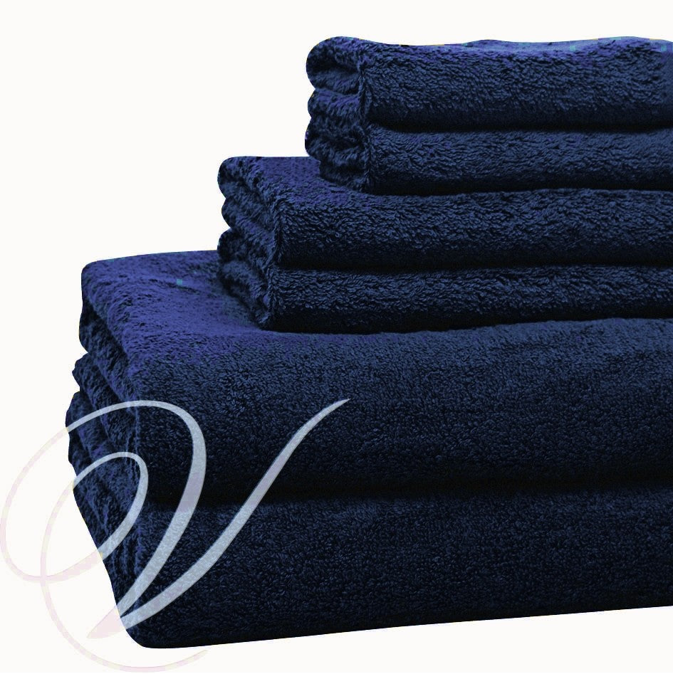 Weavers Cardiff Towel - Navy