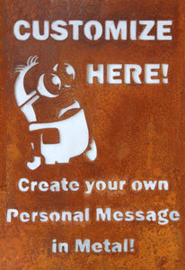 Customize your personal metal art gift