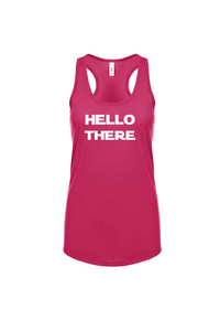 Hello There Racerback Tank