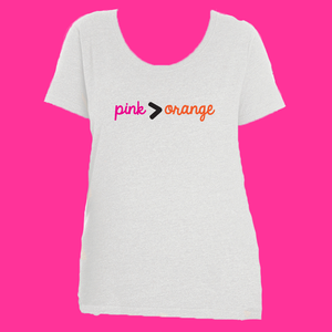 Pink is Greater Than Orange Plus Tee
