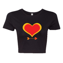 Load image into Gallery viewer, Heart Bow Crop Tee