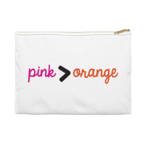 Pink > Orange Accessory Pouch