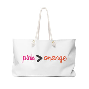 Pink > Orange Weekender Bag
