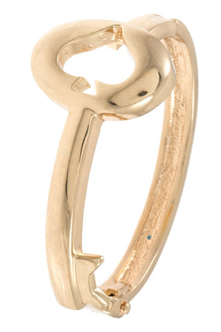 Spade cut out shape bangle bracelet