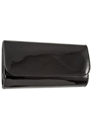 Patent detail clutch bag