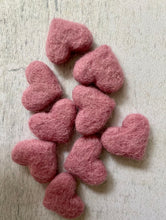 Tiny Felted Hearts - Auspicious Laundry Store