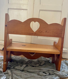 Vintage Wood Heart Bench
