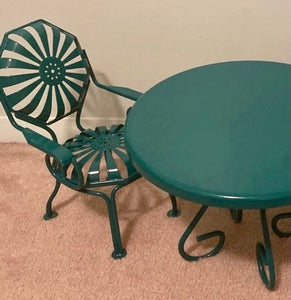 Metal Table & 2 chairs