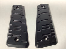 Load image into Gallery viewer, TJD Customs Aluminum K.A.T. 45° Grip Panels Matte Black 1911