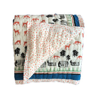 Quilted Blanket - Deer