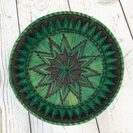 Handwoven Basket - Emerald Round
