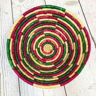 Handwoven Baskets - Natural / Pink