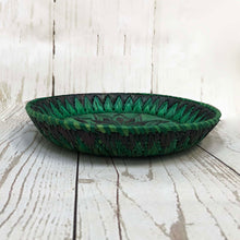 Load image into Gallery viewer, Handwoven Basket - Emerald Round