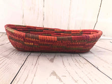 Load image into Gallery viewer, Handwoven Basket - Coral Oval