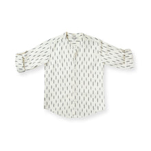 Load image into Gallery viewer, Ikat Rain Collarless Shirt - Orche White